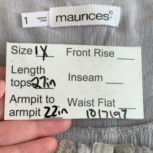 Maurices Tops - Maurices plus size top | size 1X